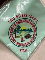 Two Rivers Council Light Green Camp Staff Neckerchief