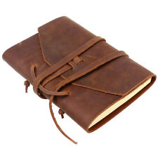 Handmade Leather Journal Travel Diary Stitched Travelers Notebook Binding Rope