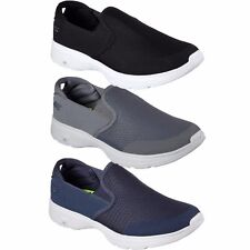 Mens Skechers GO WALK 4 CONTAIN 54171 Slip On Casual Comfort Shoes Sneakers