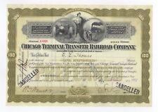 Chicago Terminal Transfer Railroad Company Stock Certificate