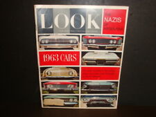 LOOK MAGAZINE 1962 October 23, Cars Preview 1963 Nazis of Argentina