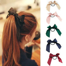 1/6pcs Femmes Bow-noeud élastique Cheveux Tie Band Rope Ring Ponytail Holder