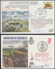 BELGIUM 1981/84 ILLUSTRATED AIRFORCE FLIGHT COVERS (x2) SIGNED (ID:331/D50449)
