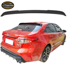 Fits 20 Toyota Corolla Sedan IKON Style Roof Spoiler Wing Matte Black