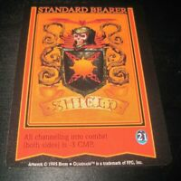 Guardians standard bearer shield trading card game tcg/ccg Rare 2 1995 skull