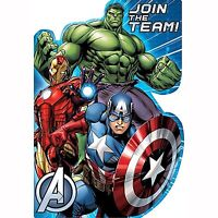AVENGERS INVITATIONS PACK OF 8 PARTY INVITES