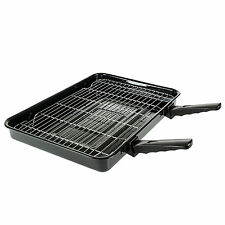 Extra Large Cooker Oven Grill Pan & Rack Detachable Handles For Stoves Ovens
