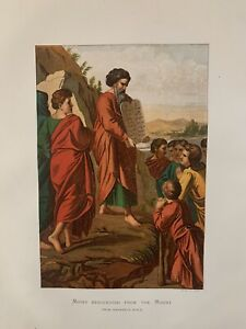 1865 Raphael's Moses Descending From The Mount Antique Print by Leighton Bros