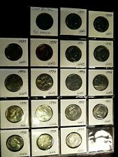 LOT of 17 GREAT BRITAIN 50 Pence coins 1987-99 Uncirculated
