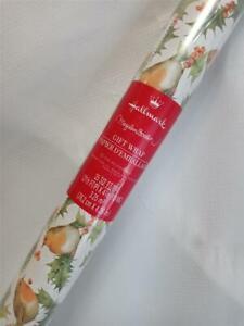 Rare Hallmark Marjolein Bastin Christmas Gift Wrapping Paper Roll*Birds &Holly
