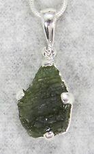 MOLDAVITE PENDANT $69 Tektite Sterling Silver Jewelry STARBORN CREATION MP69-R21