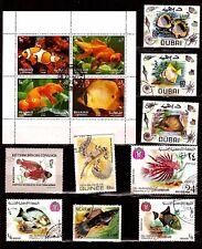 TOUS PAYS  1 bloc & 9 timbres : poissons exotiques d'aquariums SP105