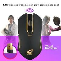 X9 USB Rechargeable Wireless Mouse 2.4GHz Gaming Mice 1800 DPI for PC Laptop