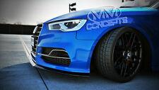 Cup Spoilerlippe für Audi S3 8V Cabrio Limousine Spoiler Schwert Frontansatz ABS