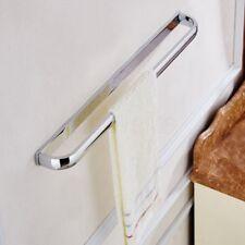 Polished Chrome Wall Mounted Bathroom Square Single Towel Rail Holder Rack Bar