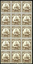 GERMAN OFFICES IN SAMOA, YEAR 1915-1919, MICHEL # 20, BLOCK OF 15, MNH
