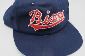 Vtg Buffalo Bisons Navy Blue Adjustable Snapback Minor League Baseball Cap Hat