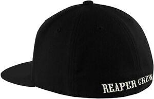 Adult Biker SOA Sons of Anarchy TV  Reaper Crew Baseball Cap Black 56-58 cms