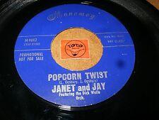 JANET AND JAY - POPCORN TWIST - HAVE SOME POPCORN  / LISTEN - ROCK JAZZ POPCORN