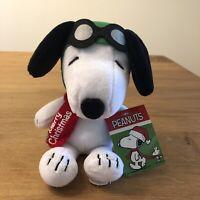 "Christmas Aviator Pilot Snoopy Plush-Singing I Play ""Linus & Lucy"" New"