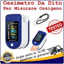 Ossimetro Da Dito Saturimetro Per Misurare Ossigeno Pulsossimetro Portatile 2020