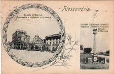 ALESSANDRIA VIAGGIATA 1929 AFFRANCATA MARENGO BERTOLOTTI COMMEMORATIVA