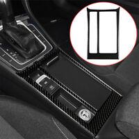 Carbon Fiber Central Cup Holder Panel Trim Decoration For VW Golf MKVII 2013-17