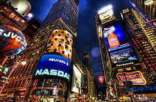 Incorniciato stampa-TIME SQUARE NEW YORK CITY (PICTURE POSTER COLORATA SCENIC ART)