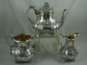 STUNNING VICTORIAN silver TEA SET , 1835, 1434gm