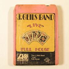 J. Geils Band Live Full House 8-track Tape Cartridge 1972 Atlantic ATL TP-7241