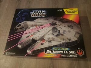 Star Wars Red Power of the Force Electronic Millennium Falcon Ship NEW