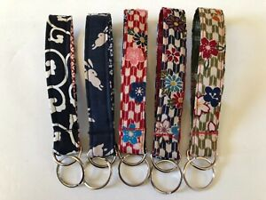 Japanese Handmade Keychain Cotton Fabric Bracelet Keyring Accessory