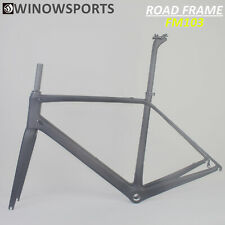 Chinese Cheap Carbon road bicycle frame UD Black Matte 54 56 58 BSA carbon frame
