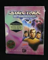 Star Trek: 25th Anniversary PC DOS CD-ROM Big Box Game -Interplay, 1993 -Vtg NOS