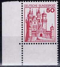 BRD Burgen und Schlößer Mi. - Nr. 916 A I u Ecke unten links postfrisch