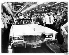 1976 Cadillac ELDORADO Convertible, WHITE, ASSEMBLY LINE, Refrigerator Magnet