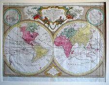 Rare Antique Map of the World - Mappa Totius Mundi - Conrad Lotter - 1775