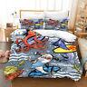 3D Cartoon Shark Octopus Bedding Set Duvet Cover Comforter Cover Pillow Case