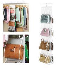Hanging Hook Handbag 8 Pocket Holder Purse Bag Rack Storage Closet Organizer