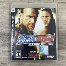 WWE SmackDown vs. Raw 2009 Featuring ECW PlayStation 3 PS3 W/ Manual Wrestling