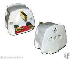 USA Europe Japan to UK England 2 Pin to 3 Pin Travel Tourist Adaptor Plug ES988
