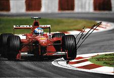 Mika Salo SIGNED 12x8, F1 Scuderia Ferrari F399 ,Italian GP ,Monza 1999