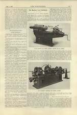 1920 Screw Chasing And Bar Grinding Machines