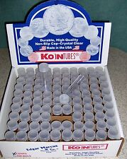 100 PENNY COIN TUBES - NEW - Screw-on Tops - Koin Tubes - Made in the U.S.A.