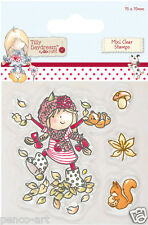 Clear rubber stamp set of 5 Tilly daydream with squirrel & mushroom 75x75mm