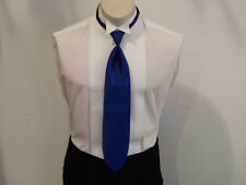 Men's Formal Clip-on Winsor Tie Royal Blue, Polyester