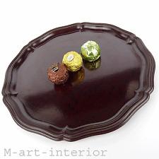 Art Deco baquelita bandeja cáscara Bakelite Barware tray 30er 50er años Vintage