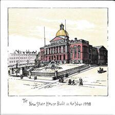 Glazed Boston New State House 1798 Historical Ceramic Tile Hot Plate Tile
