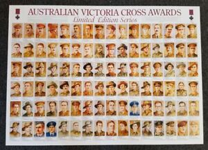 AUSTRALIAN VICTORIA CROSS AWARDS NUMBERED LIMITED EDITION POSTER