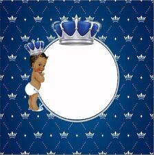 8x8FT Blue Diamonds Crown Boy Baby Shower Photo Studio Background Backdrop Vinyl